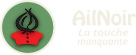 Ail Noir Black Garlic Logo